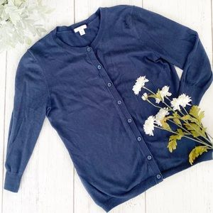 BP • blue cardigan